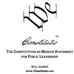 Constitution as Mission Statement